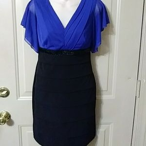 Black and blue, and fab all over dressy dress